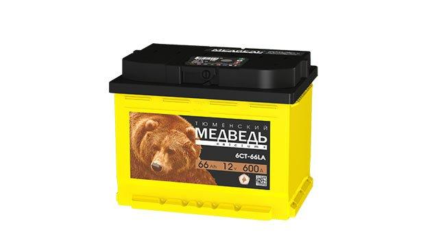 Аккумулятор Тюменский Медведь 66 L