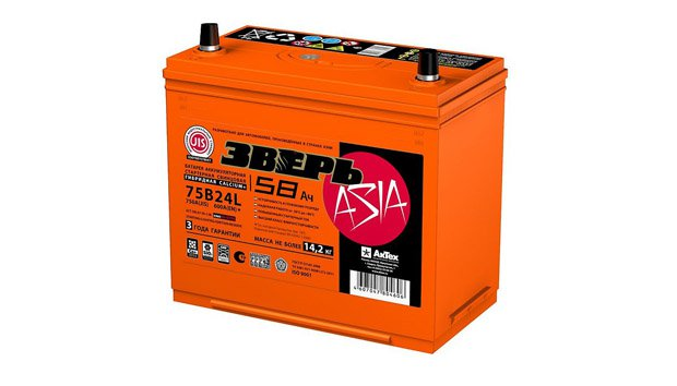 Аккумулятор Зверь Азия 75B24R